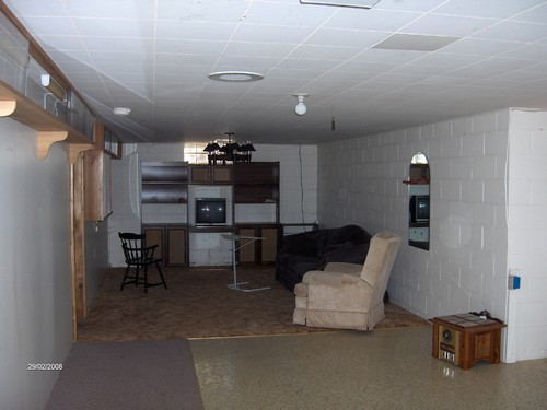 large basement room
