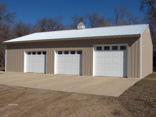 new 3 stall garage full cement and electrical.