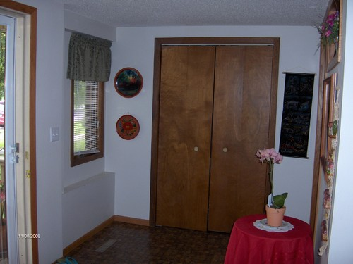 entry area with large closet