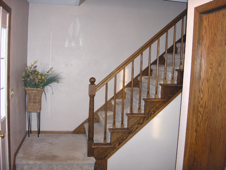 open stairway to upstairs