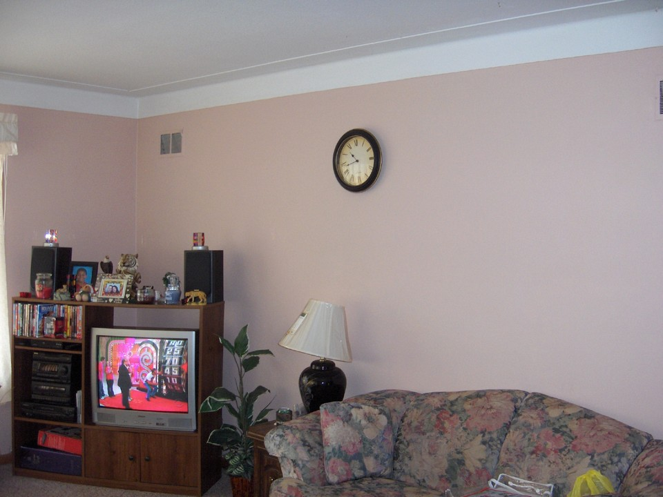 freshly painted living room.
