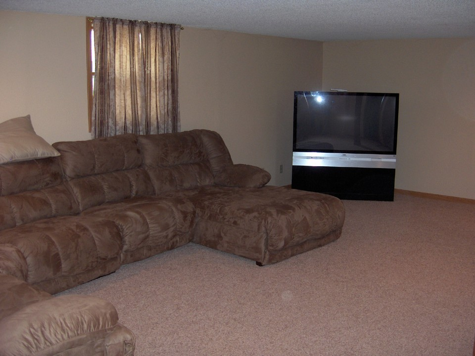 family room on lower level