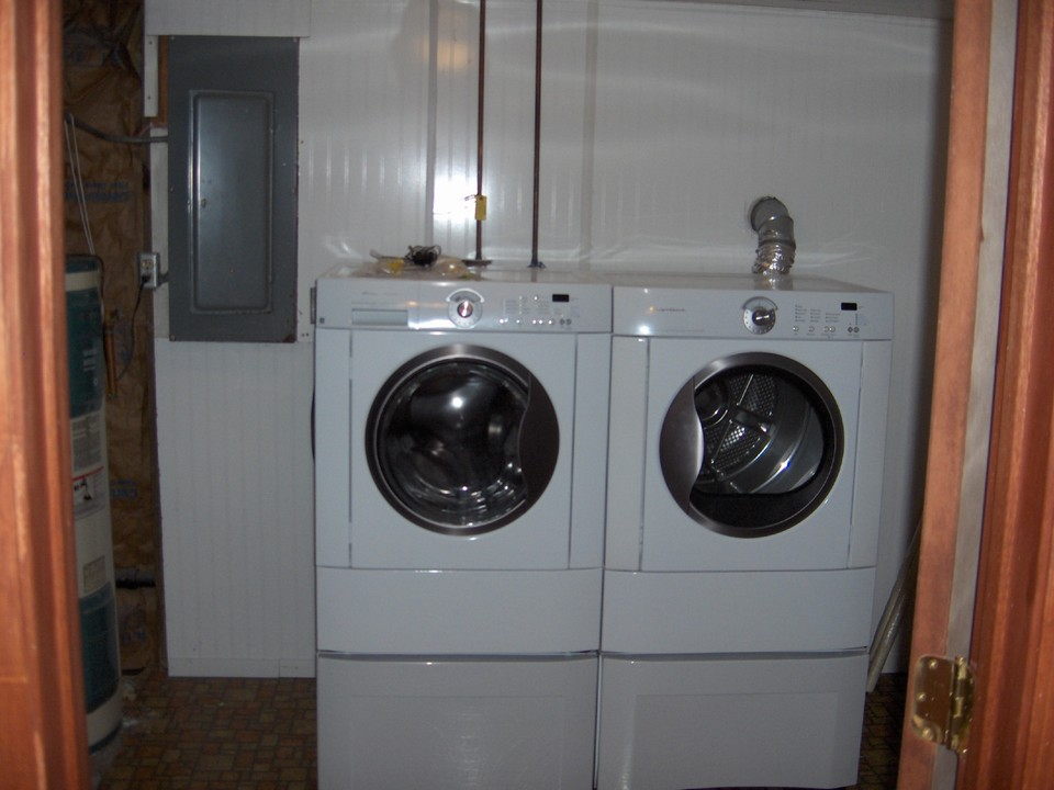 laundry area front loading appliances included