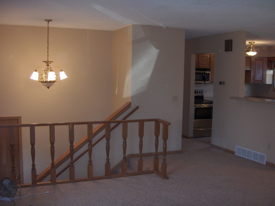 open stair to lower level