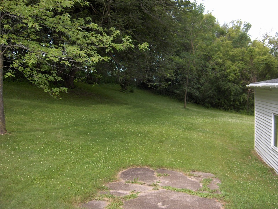 part of large yard