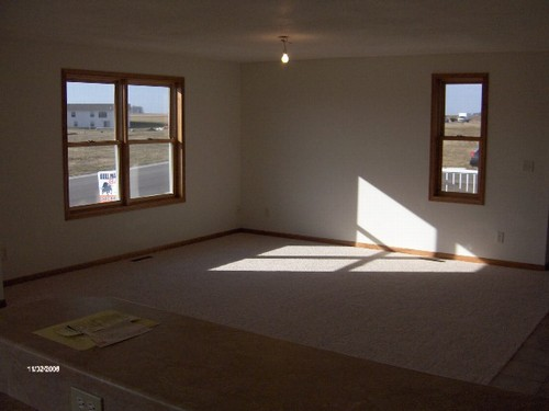living room carpet is the only boundary as this room is wide open.  these are andersen tilt in windows.