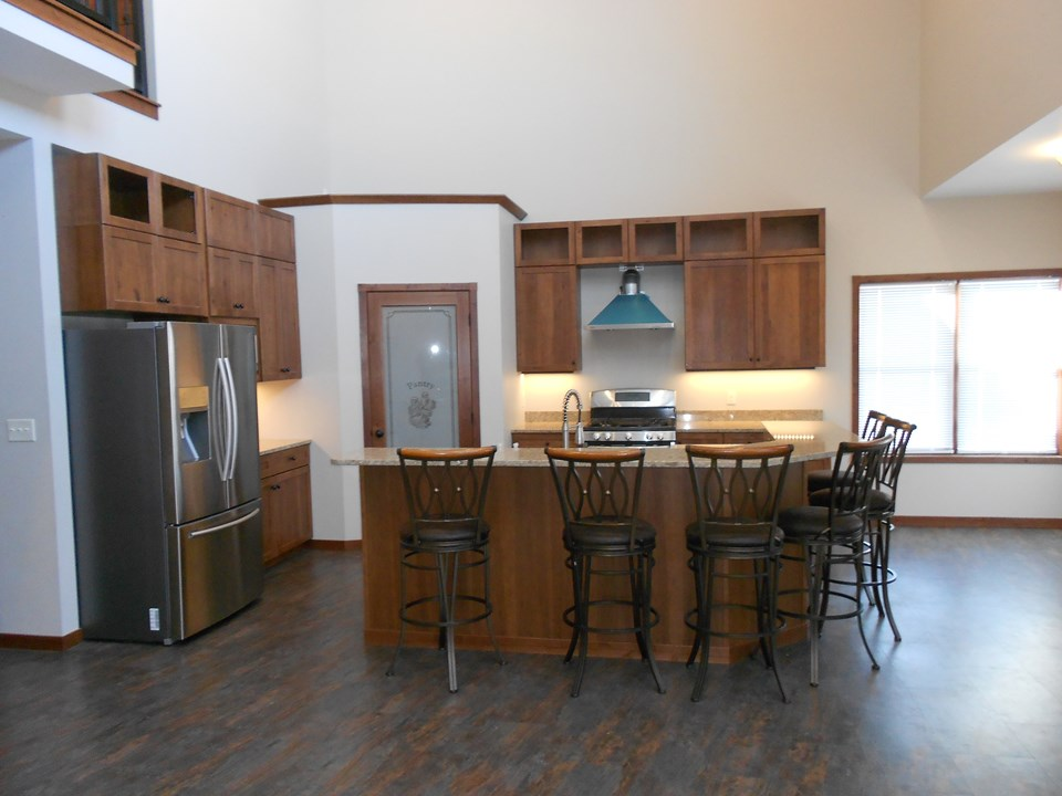 kitchen cambria countertops.  birch company cabinets that have soft close.  stainless appliances.  walk in pantry.