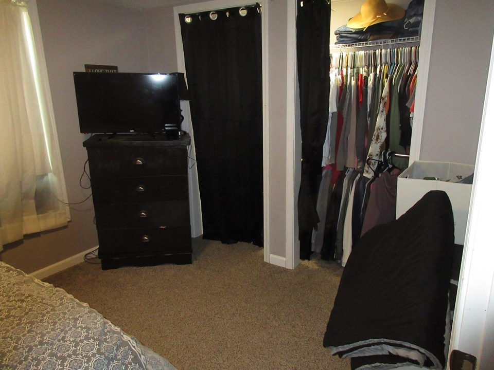 bedroom one closets