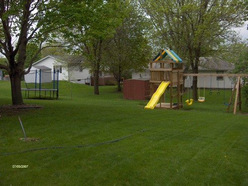 backyard space to play.  great open area.